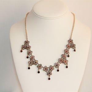 Vintage Glass Works Studio Swarovski Necklace